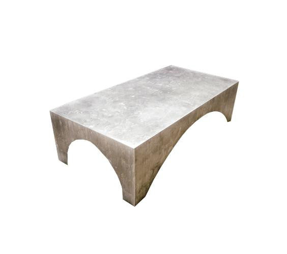 Arched Parsons Coffee Table Solid Top