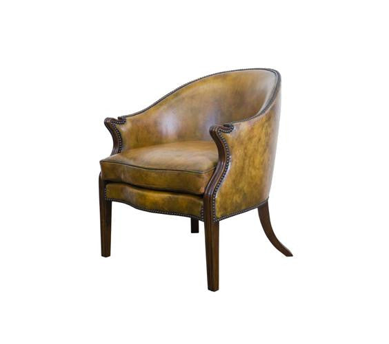 Bedford Leather Bergere Chair