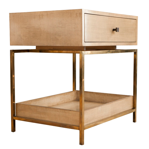Box Top Nightstand End Table