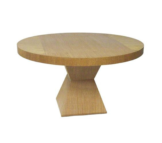 Java Pedestal Base Round Dining Table
