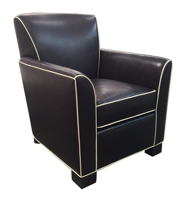 Cameron Contrast Leather Lounge Chair