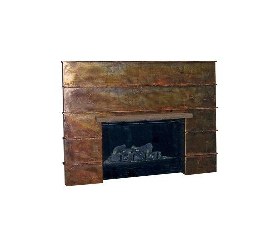 Pleated Fireplace Surround