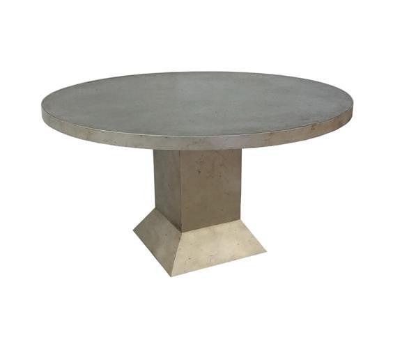Nagato Round Dining Table with Straight Square Base