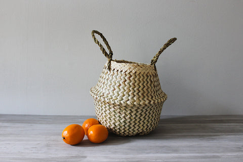 Milk Stripe Basket, Mini
