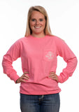 Long Sleeve Pink Paisley