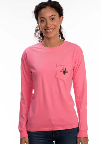 Long Sleeve Pocket Pink