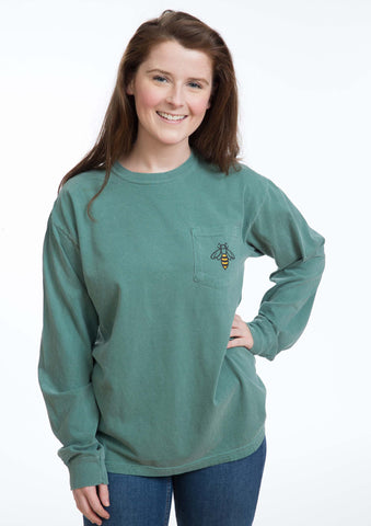 Long Sleeve Pocket Green