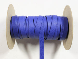 "Royal Blue 1/2"" Folded Leather Lace - Sold Per Yard"