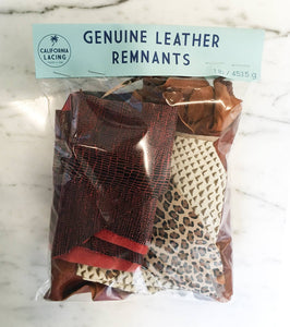 1 lb Genuine Leather Remnants - Printed