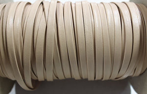 "Cream 1/4"" Folded Leather Lace - Sold Per Yard"