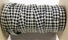 "Houndstooth Print 1/2"" Folded Leather Lace - Sold Per Yard"