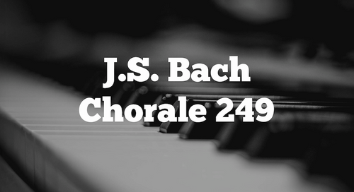 Bach Chorale 249 For Strings (SATB)