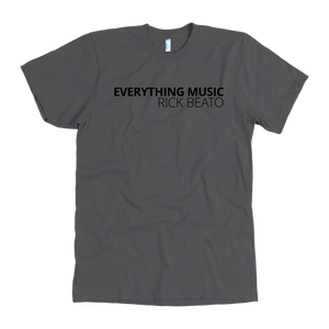 'EVERYTHING MUSIC' Asphalt T-Shirt by American Apparel