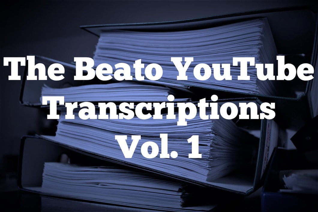 The Beato YouTube Transcriptions Vol. 1 | 20 PDF's