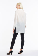 B050 Patty Tuxedo Blouse with Pintuck Placket and Asymmetrical Collar - Back