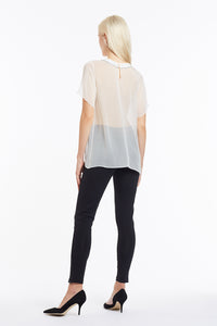 B048 Heather Beaded Chiffon T-Shirt - Back