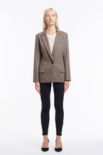 J015 Kimberley Oatmeal Wool Tailored Jacket - Front Closed