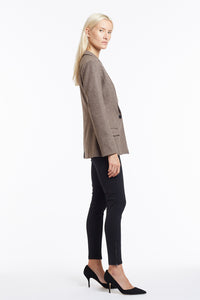 J015 Kimberley Oatmeal Wool Tailored Jacket - Side