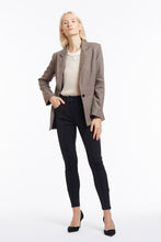 J015 Kimberley Oatmeal Wool Tailored Jacket - Front Open