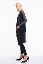 J016 Suzanne Navy Mesh Cardigan - Side