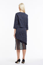 S020 Liz Asymmetrical Navy Camo Skirt with Mesh - Back