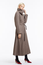 Coco Cowl Neck Flare Coat in Melange