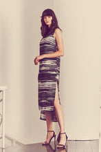 D023-CHAR-BWH Taz Silk Sleeveless Collared Dress - Lookbook Photo