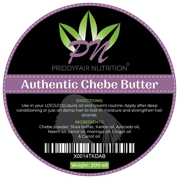 Chebe Butter 200ml : Traditionally Made with 100% Raw Shea Butter & Natural Oils with Chebe Powder from Chad : Hair Growth Retention Premium Quality