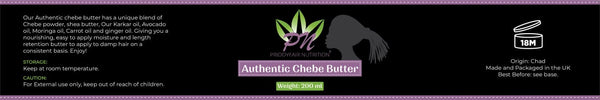 Chebe Butter 200g : Traditionally Made with 100% Raw Shea Butter & Natural Oils with Chebe Powder