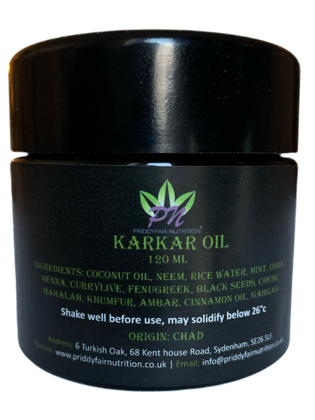 Authentic Karkar Oil 120 ml Traditionally made from Chad for Chebe Powder | Skin & Safe for All hair types - Straight | Wavy | Curly, Kinky, Thinning, Dry & Damage hair