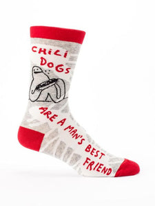 Chill Dogs Are A Mans Best Friend M-Crew Socks