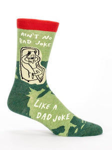 Ain't No Bad Joke Like A Dad Joke, M-Crew Socks