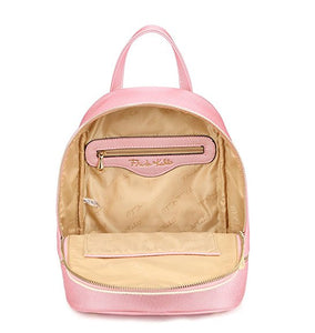 Frida Kahlo Backpack, Cute Pink Pearl and Faux Leather