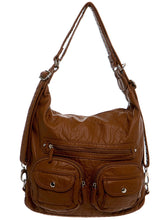 Convertible Crossbody Backpack-Brown-Ampere Creations