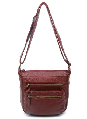 Burgundy Vegan Leather Purse