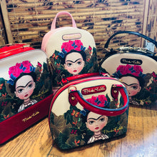 Frida Kahlo, Small Hand Bag and Cross Body Bag, with Red or Black Handle