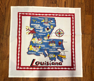 Louisiana Map Dish Towel