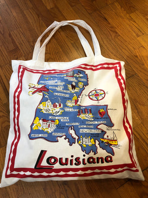 Louisiana Map Bag