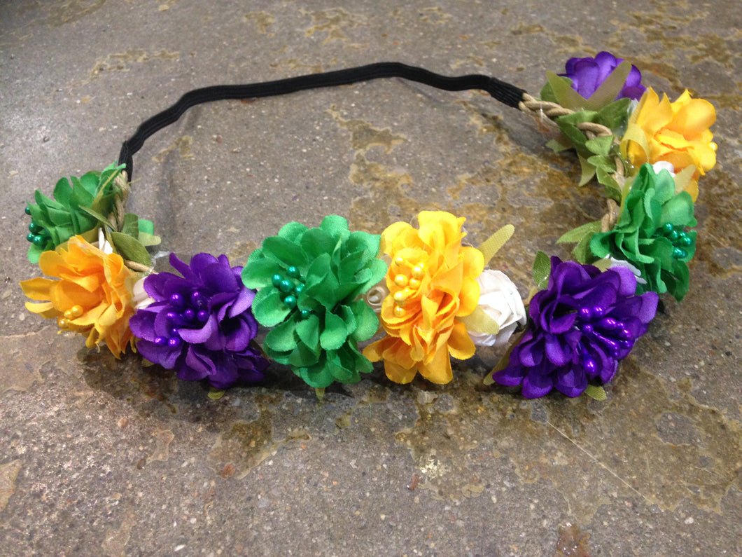 Mardi Gras Flower Crown