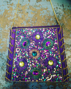 Mardi Gras Glam Purse