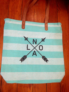 NOLA ARROW, Bermuda Mint Tote