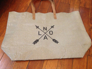 NOLA Arrow Tote Bag, New Orleans Bags