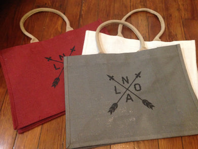 NOLA Arrow, Classic Jute Bag