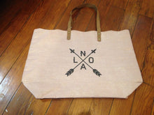 Shimmer Scallop Tote Bag with NOLA Arrow
