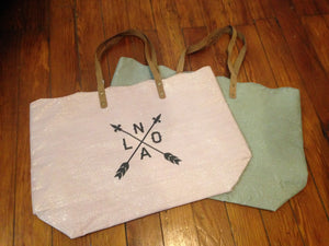 Shimmer Scalloped Tote Bag