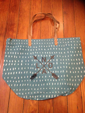 NOLA Arrow,  Patterned Tote Bag