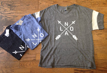 NOLA Arrows Shirt with Striped Sleeves