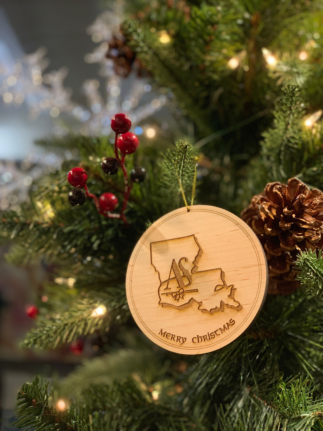 Amanda Shaw Foundation Limited Edition Wood Ornament - 2018; Two options: signed(25$) and unsigned(20$); Shipping starts December 15, 2018