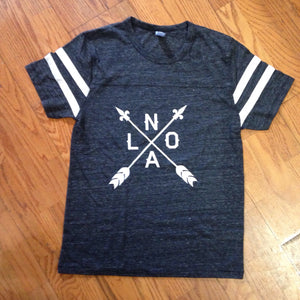 NOLA Arrow, Vintage Football Jersey Style, Unisex