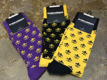 Fleur De Lis, Fashion Socks by Feraricci